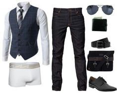 Outfit grid - Waistcoat & jeans