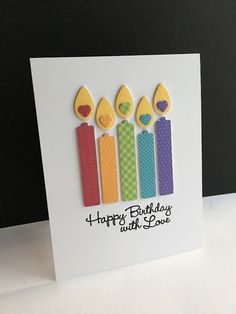 Happy Birthday with Love Candles