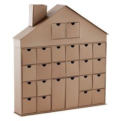 this 24-drawer decorative house makes the ideal advent calendar, Make Advent Calendars for Christmas, http://hative.com/make-advent-calendars-for-christmas/,