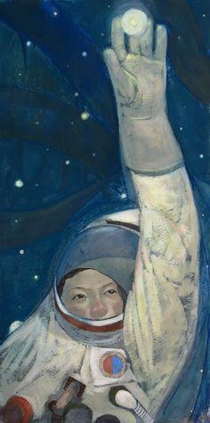 astronauta é um tema que me recorre.