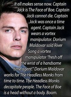 Jack Harkness is a headless monk theory