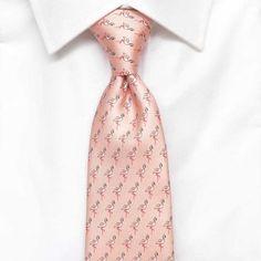 Mens Flamingo Silk Tie