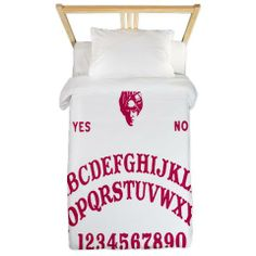 Talking Board Twin Duvet - #Ouija, #Board, #Bored, #Seance, #Spiritualist, #Mystifying, #Oracle, #Talking, #Occult, #Fortune, #Telling, #Halloween, #Horror, #Ghost, #Creepy, #Victorian, #Era, #Spirit, #Planchette, #Witchboard, #Witch, #Automatic, #Writing, #Witchcraft, #Craft, #Dead, #Demonic, #Possession, #Devil, #Divining, #Elijah, #Bond, #Magic, #Egyptian, #Luck, #Mysticism, #Occultism, #Pythagoras, #Clairvoyance, #ESP, #Seers, #Psychics, #Captain, #Howdy, #Alphabet,