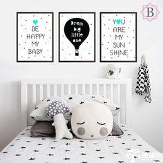 Kit de quadros Infantil - Happy (cores a escolha) - comprar online