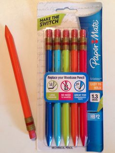 Great mechanical #2 pencil for low vision individuals!!!  It has thicker led (1.3 mm) which makes it seem darker, triangle shape so no rolling off the table/desk, flat side to add Braille name label (if desired - for those students learning Braille). Super for filling out bubbles for standard tests, too! My new favorite pencil!!! (Merry-Noel Chamberlain, TVI)