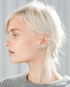 Image 3 of PEARL AND STONE EARRINGS from Zara