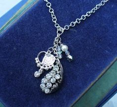 Hey, I found this really awesome Etsy listing at https://www.etsy.com/ca/listing/461708464/rhinestone-charm-necklace-with-crystal