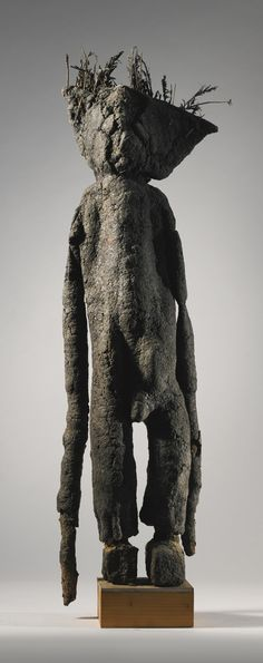 SENUFO ORACLE FIGURE (KAFIGELEDJO), IVORY COAST Height: 42 1/4 in (107 cm)