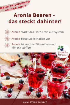 """Unsere Aronia Produkte werden mit viel know-how und Leidenschaft auf unserem Biohof im Schweizer Aargau angebaut und verarbeitet. Wir haben uns ganz und gar der """"Zauberbeere"""" Aronia verschrieben. In unserem Onlineshop findest du eine große Auswahl an Aronia Produkten. Aroniasaft, getrocknete Beeren, Aronia Balsamico, Aronia Kapseln und Aronia Pulver. Superfoods, Vegetables, Natural Home Remedies, Health And Wellbeing, Swiss Guard, Passion, Super Foods, Vegetable Recipes, Veggies"""
