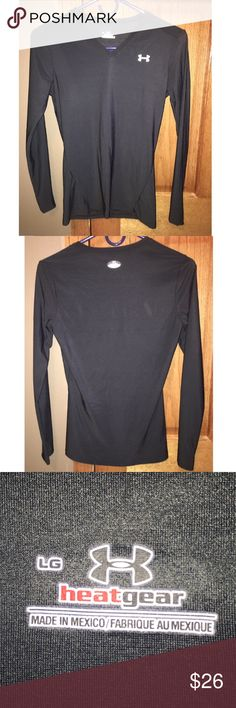 NWOT Under Armour Black Fitted This fitted Under Armour is great for cold weather, and awesome for working out in. This black top is a large, and is NWOT. It is in perfect condition! From a pet-free and smoke-free home. :) Make me an offer!! Under Armour Tops Tees - Long Sleeve