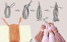 Как сделать кисточку из ниток для сумки
