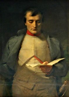 Napoleon I reading his letter of abdication by George Richmond.