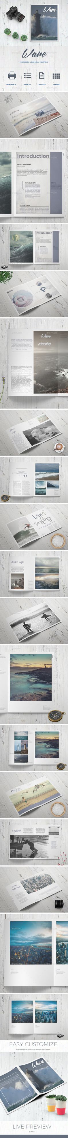 Wave - Photo Book  #minimal #modern #personal • Available here → http://graphicriver.net/item/wave-photo-book/15540507?ref=pxcr