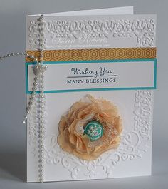 Crinkled Ribbon Flower by rainy - Cards and Paper Crafts at Splitcoaststampers