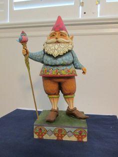 "Jim Shore Heartwood Creek 18.5"" Garden Gnome # 4007763 Retired"