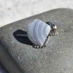 Genuine surf tumbled sea glass jewelry, ornaments and tumbled stone necklaces, earrings, bracelets, agate slice ornaments and more. Blue Lace Agate, Tumbled Stones, Stone Names, Minerals And Gemstones, Rocks And Gems, Agate Stone, Sea Glass Jewelry, Groomsman Gifts, Healing Stones