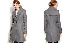 ca237c6f58 Kenneth Cole Reaction Wool-Blend Side-Buckle Walker Coat Wool Coat