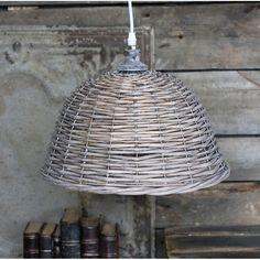 lampa wiklinowa #wicker #lamp #vintage #village