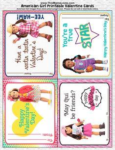 Printable American Girl Valentines!