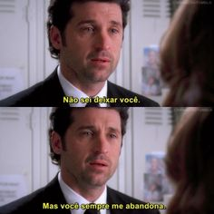Meredith E Derek, Greys Anatomy Frases, Grays Anatomy, Crush Amor, Grey Quotes, Patrick Dempsey, Hairy Chest, Tv Shows, Movies