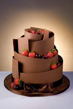 Los mejores 17 pasteles de bodas hechos con chocolate