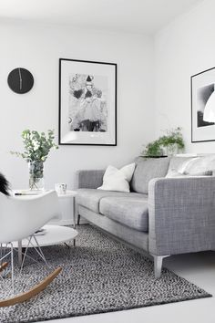 Karlstad sofa isunda grey fabric - living room