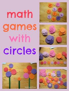 Great ideas for math games with circles (& shapes)