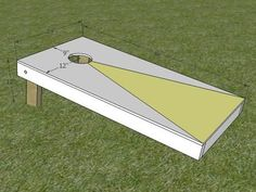 How to Build a Regulation Cornhole Set How to Build a Regulation Corn Hole Game : How-To : DIY Network Diy Cornhole Boards, Cornhole Set, Backyard Games, Outdoor Games, Outdoor Decor, Outdoor Fun, Lawn Games, Easy Woodworking Projects, Woodworking Plans