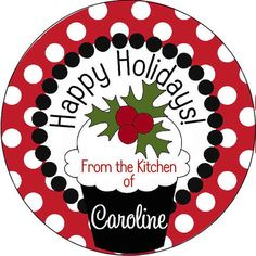 Holiday Food Labels by Church Hill Charm, $5.00