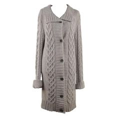 JAMES PERSE LOS ANGELES Gray Cashmere LONG CARDIGAN Sweater SIZE 3