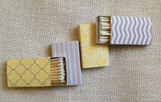 Set of 50 Matchboxes Yellow & Gray Collection by PerfectlyMatched, $49.00