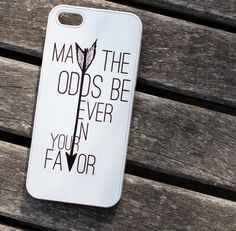 """May the Odds Be Ever in Your Favor"" Case by Good Vibe Cases. This case comes in white plastic. If you would like this design in rubber, check out our rubber case listing for the iPhone 4/4S and 5/5S under the tab ""SHOP ALL"". Our rubber cases ($16) are only $1 more than plastic cases, and they of..."