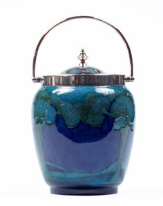 401: MOORCROFT Early biscuit jar in the Eventide patter : Lot 401