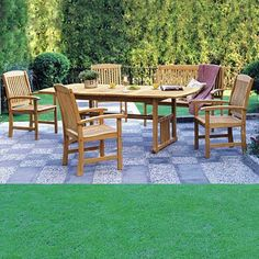 Shop Sam's Club for patio sets, conversation sets, teak outdoor furniture and high top patio seating. Teak Dining Table, Outdoor Dining Set, Outdoor Living Areas, Outdoor Seating, Outdoor Decor, Outdoor Spaces, Patio Dining, Console Table, Dining Sets
