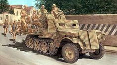 SdKfz-10-5 Hermann Göring Division Italia 1943 - Ron Volstad