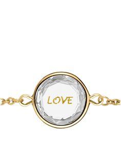 Love Bracelet White Topaz Gold Engraving Yellow Vermeil
