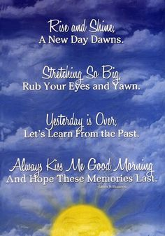 Good morning kiss...