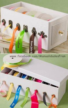 fancy boxed ribbon organizer