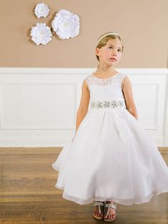 87933847487 Girls Dress Style Sleeveless Lace and Organza Dress - All First Communion  Dresses - Flower Girl Dresses - Flower Girl Dress For Less