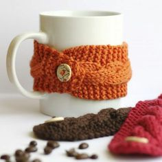 Warm Winter Knitted Cup Cosy