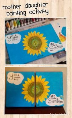Mother daughter activity  Team canvas painting Needs to be painted side by side Soo cute and fun!!!
