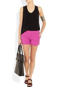 -pink shorts-