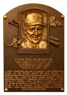 Nolan Ryan With a blazing fastball that approached 100 mph and a work ethic like none other, dominated hitters for an unparalleled 27 seasons on his way to 5,714 strikeouts, an all-time record. During four decades of prominence, he totaled 324 victories a