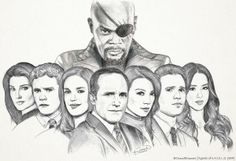 Agents of SHIELD (WIP by ChaosNDisaster). This is only a Work-in-Progress, people, and it already awesome!! I wish I could draw like that because I would so totally do it!