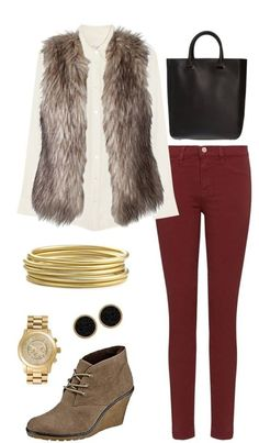This would be a cute winter school outfit! :)
