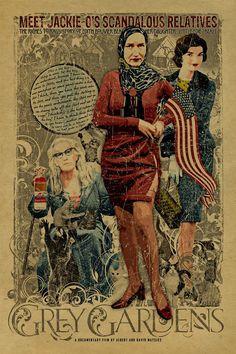 Grey Gardens poster  Kraft paper Little Edie. by UncleGertrudes, $22.00