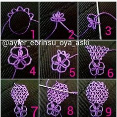 Embroidery Stitches Tutorial This Pin was discovered by Ser Crochet Unique, Crochet Motif, Irish Crochet, Crochet Patterns, Embroidery Stitches Tutorial, Tatting Patterns, Embroidery Patterns, Hand Embroidery, Needle Tatting