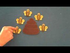 Preschool Songs ~ Five Busy Bees Flannel Board Story ~ Children's Music & Nursery Rhymes