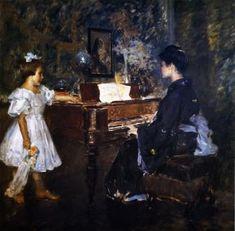 The Music Lesson - William Merritt Chase - The Athenaeum