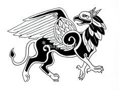 I think this is the griffin I want for my viking dress.